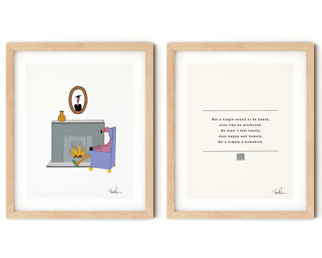 Gustav by the Fireplace Nursery Rhyme and Print Set