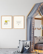 Load image into Gallery viewer, Speedy Giraffe Nursery Rhyme and Print Set