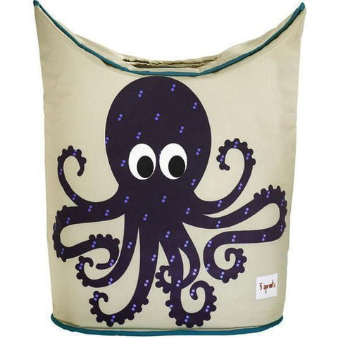 3 Sprouts Laundry Hamper - Octopus-CLHOCT-Pumpkin Pie Kids Canada