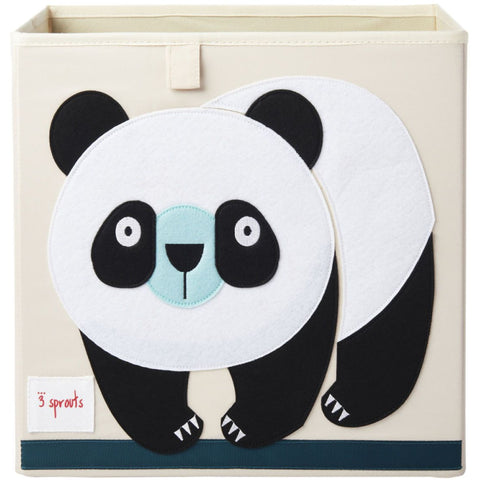 3 Sprouts Storage Box - Panda-CBXPND-Pumpkin Pie Kids Canada