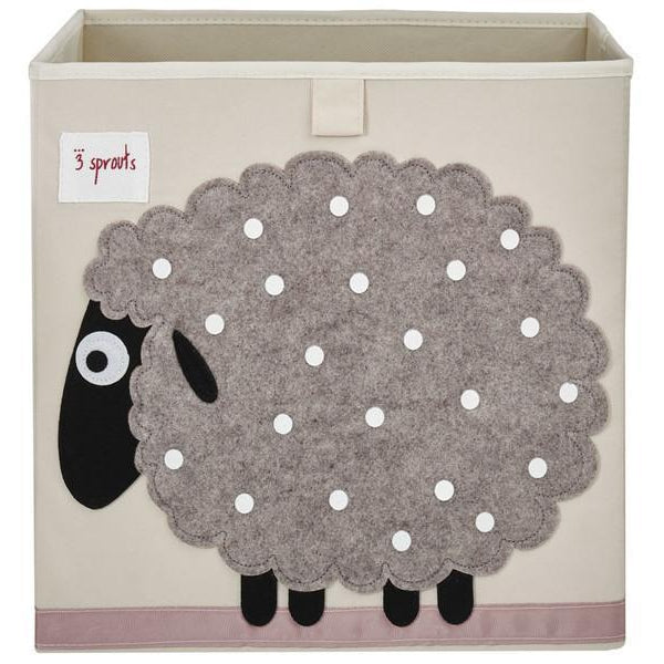 3 Sprouts Storage Box - Sheep-CBXSHP-Pumpkin Pie Kids Canada