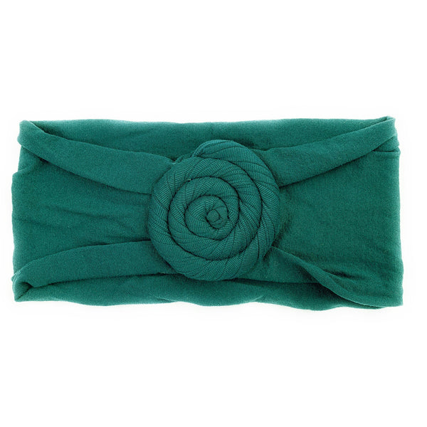 Baby Wisp Nylon Turban Roll Headband - Deep Teal-BW1143-Pumpkin Pie Kids Canada