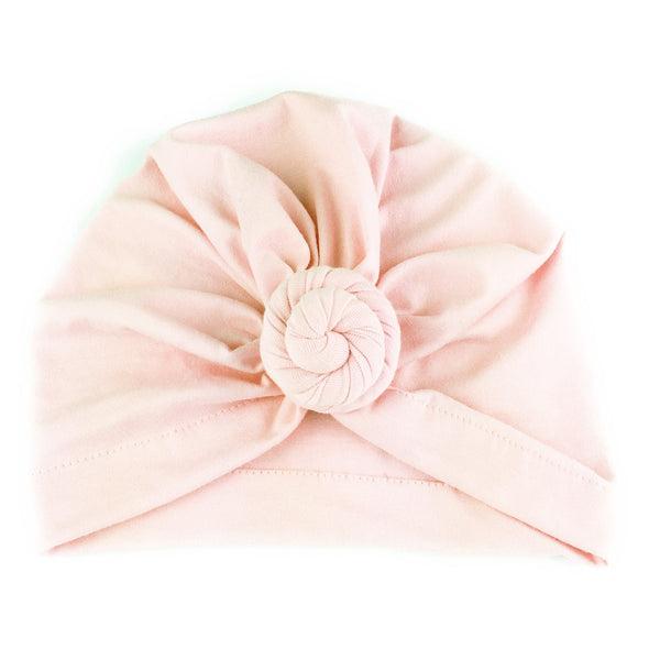 Baby Wisp Turban Knot Hat - Light Pink-BW1602-Pumpkin Pie Kids Canada