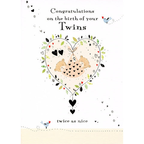 Birth of Twins Card-GHBC141-Pumpkin Pie Kids Canada