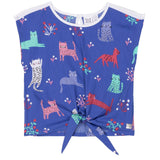 deux par deux Blouse - Cats-B30E72 3-Pumpkin Pie Kids Canada