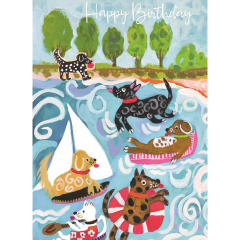Dogs at the Beach Birthday Card-CC1415-Pumpkin Pie Kids Canada