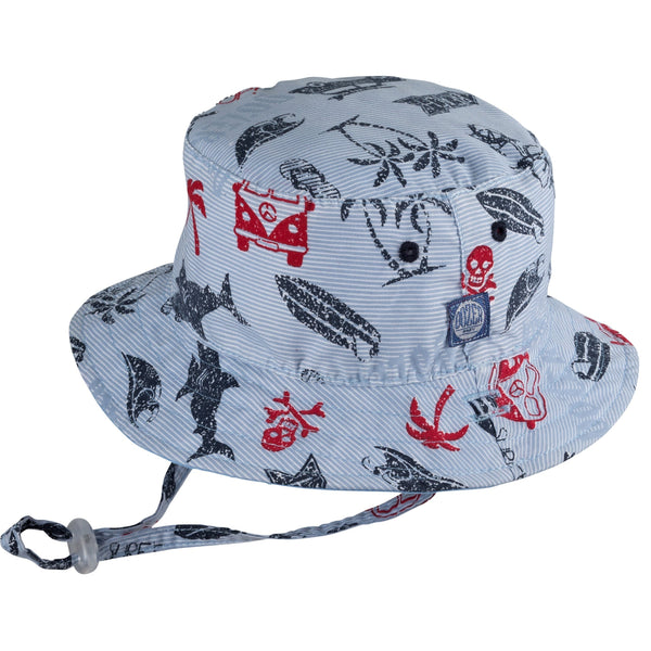Dozer Reversible Bucket Hat - Kai/Blue-HBY-0056-300 S-Pumpkin Pie Kids Canada