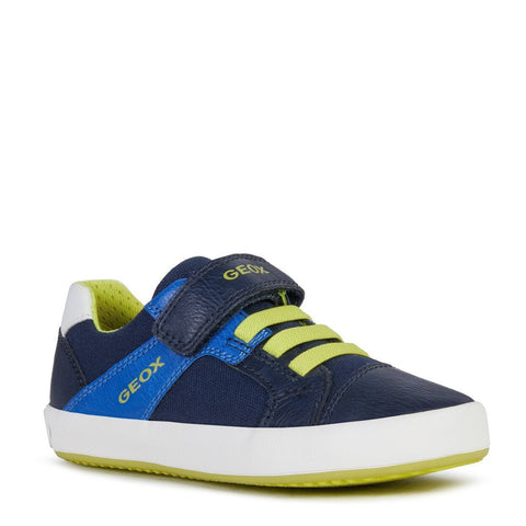 Geox Gisli Sneaker - Navy/Royal-Pumpkin Pie Kids Canada