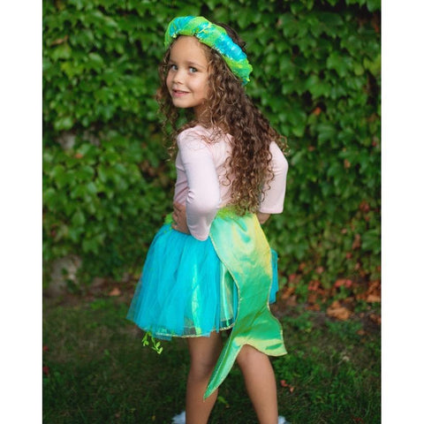 Great Pretenders Mermaid Skirt & Halo 5-6-43985-Pumpkin Pie Kids Canada