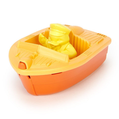 Green Toys Race Boat-BTRO-1104-Pumpkin Pie Kids Canada