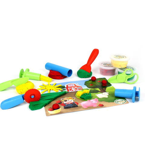 Green Toys Tools Essentials Dough Set-DMT1-1245-Pumpkin Pie Kids Canada