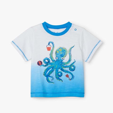 Hatley Graphic Tee - Playful Octopus-Pumpkin Pie Kids Canada