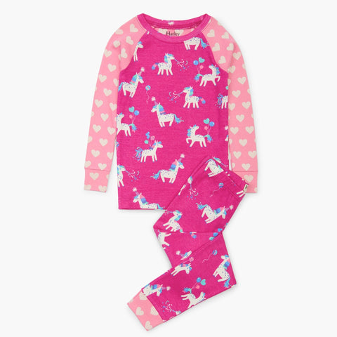 Hatley Organic Pajamas - Party Horses-Pumpkin Pie Kids Canada