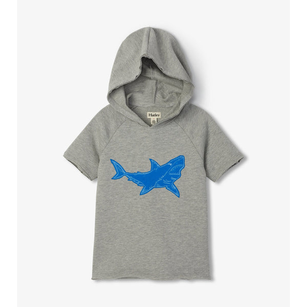 Hatley Raglan Hoodie - Great White Shark-Pumpkin Pie Kids Canada