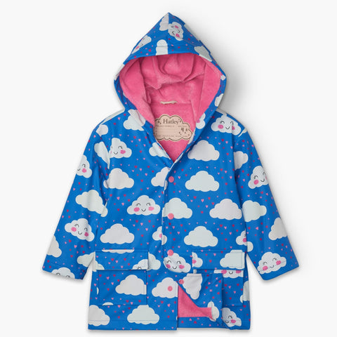 Hatley Raincoat - Cheerful Clouds-Pumpkin Pie Kids Canada