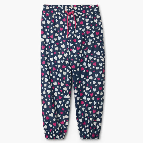 Hatley Splash Pants - Colour Changing Confetti Hearts-Pumpkin Pie Kids Canada