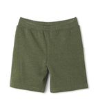 Hatley Terry Shorts - Moss Melange-Pumpkin Pie Kids Canada