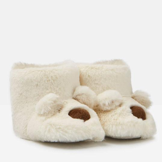 Joules Baby Petapata Slippers - Bear-208062/855 0-3M-Pumpkin Pie Kids Canada