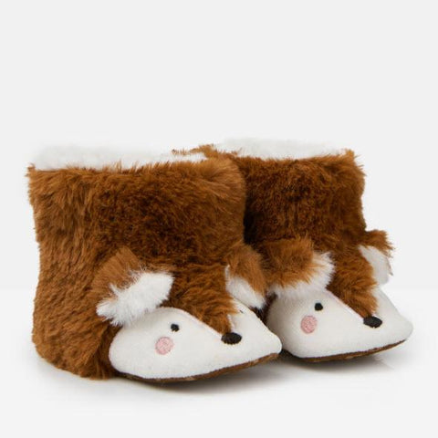 Joules Baby Petapata Slippers - Brown Fox-208062/1009 0-3M-Pumpkin Pie Kids Canada