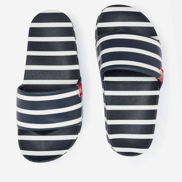 Joules Poolside Sliders - Navy Stripes-201389-111 9-Pumpkin Pie Kids Canada