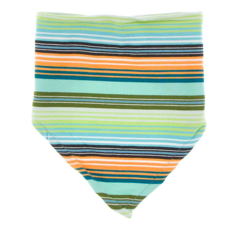 KicKee Pants Bandana Bib - Cancun Glass Stripe-BBB915S19D2-CGS-Pumpkin Pie Kids Canada