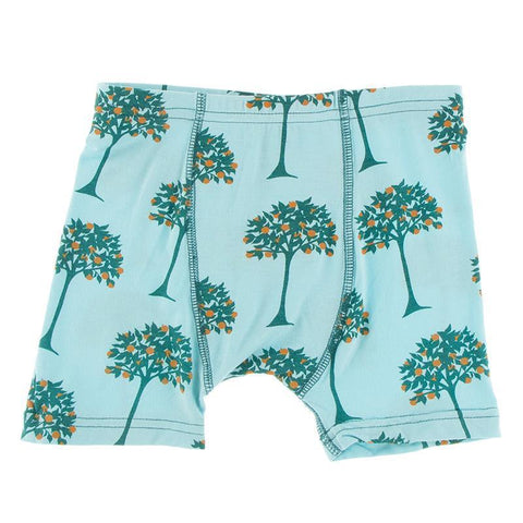 KicKee Pants Boxer Brief Single - Iceberg Orange Trees-Pumpkin Pie Kids Canada