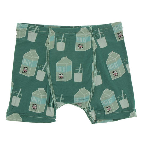 KicKee Pants Boxer Brief Single - Ivy Milk-Pumpkin Pie Kids Canada
