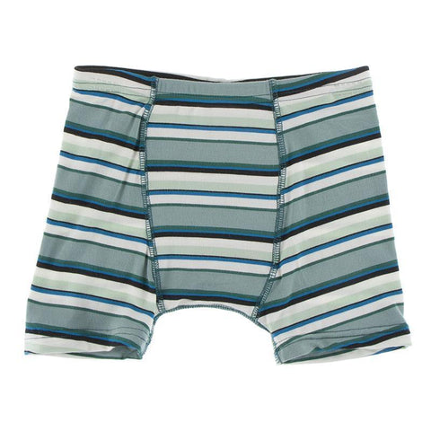 KicKee Pants Boxer Brief Single - Multi Agriculture Stripe-Pumpkin Pie Kids Canada
