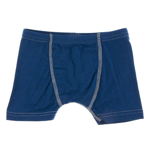 KicKee Pants Boxer Brief Single - Navy with Spring Sky-Pumpkin Pie Kids Canada
