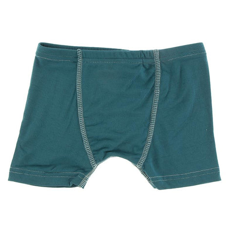 KicKee Pants Boxer Brief Single - Oasis with Jade-Pumpkin Pie Kids Canada