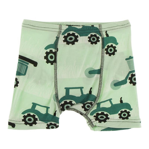 KicKee Pants Boxer Brief Single - Pistachio Tractor-Pumpkin Pie Kids Canada