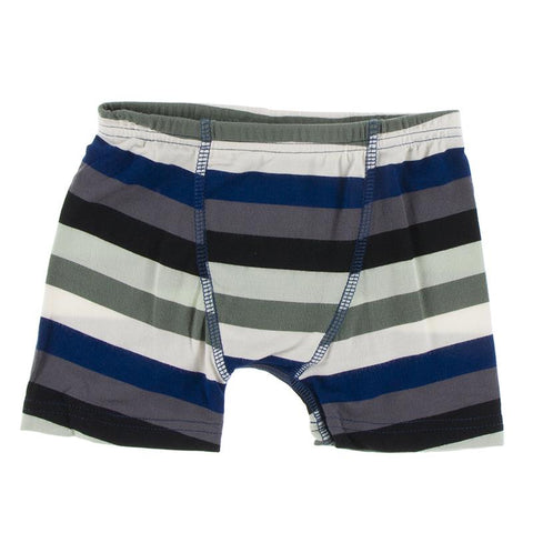KicKee Pants Boxer Brief Single - Zoology Stripe-Pumpkin Pie Kids Canada