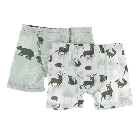 KicKee Pants Boxer Briefs 2pk - Aloe Bears & Treeline and Natural Forest Animals-Pumpkin Pie Kids Canada
