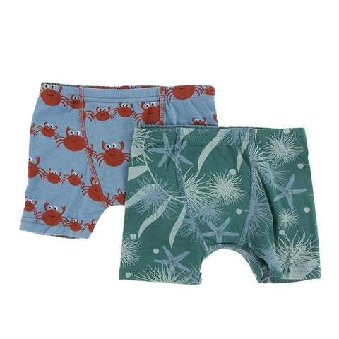 KicKee Pants Boxer Briefs 2pk - Blue Moon Crab Family & Ivy Sea Garden-BB47F19D3-BCFISG 34-Pumpkin Pie Kids Canada