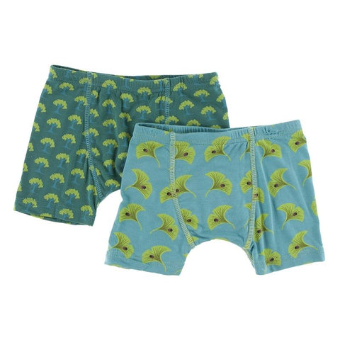 KicKee Pants Boxer Briefs 2pk - Ivy Mini Trees/Neptune Gingko-Pumpkin Pie Kids Canada
