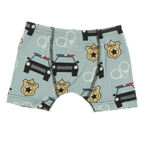 KicKee Pants Boxer Briefs Single - Jade Law Enforcement-Pumpkin Pie Kids Canada