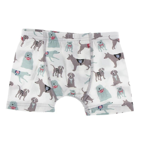 KicKee Pants Boxer Briefs Single - Natural Canine First Responders-Pumpkin Pie Kids Canada