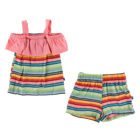 KicKee Pants Cancun Top & Short Set - Cancun Strawberry Stripe-GOS281S19D2-CSBS XS-Pumpkin Pie Kids Canada