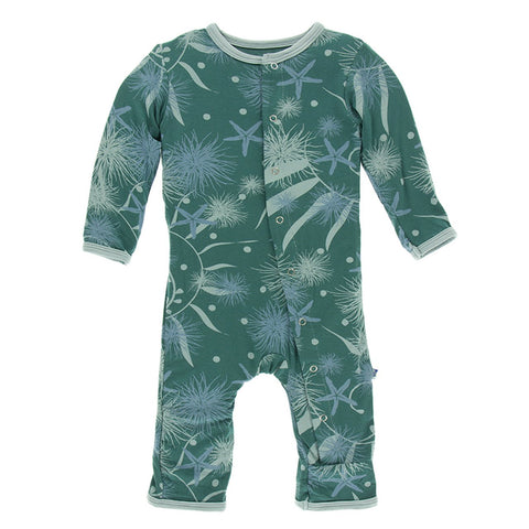 KicKee Pants Coverall with Snaps - Ivy Sea Garden-CA213F19D3-IVSG 3-6M-Pumpkin Pie Kids Canada