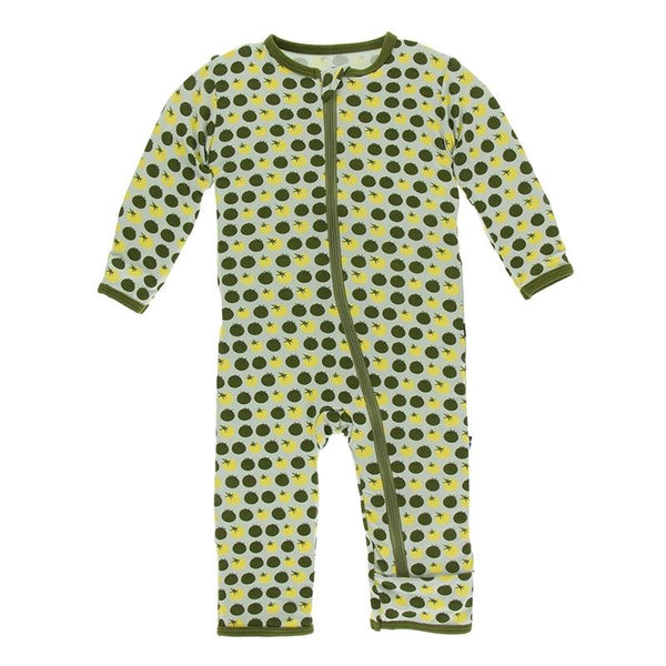 KicKee Pants Coverall with zipper - Aloe Tomatoes-ZCA394S19D1-AOT PR-Pumpkin Pie Kids Canada