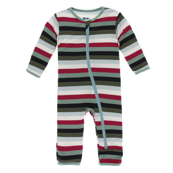 KIcKee Pants Coverall with Zipper - Christmas Multi Stripe-ZCA394F19D1H-XMMST 0-3M-Pumpkin Pie Kids Canada