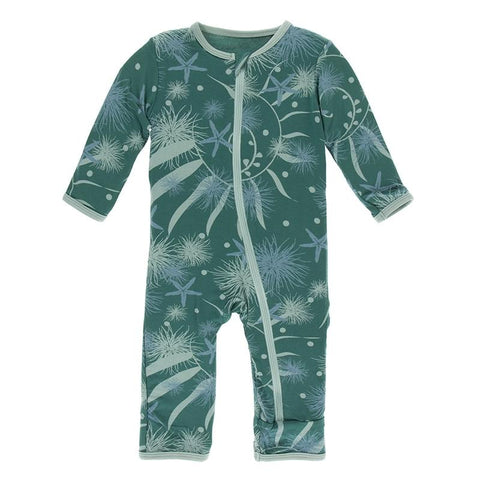 KicKee Pants Coverall with Zipper - Ivy Sea Garden-ZCA394F19D3-IVSG 9-12M-Pumpkin Pie Kids Canada