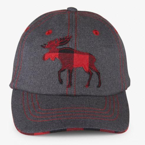 Little Blue House Baseball Cap Kids - Plaid Moose-HA3WIMO222-Pumpkin Pie Kids Canada