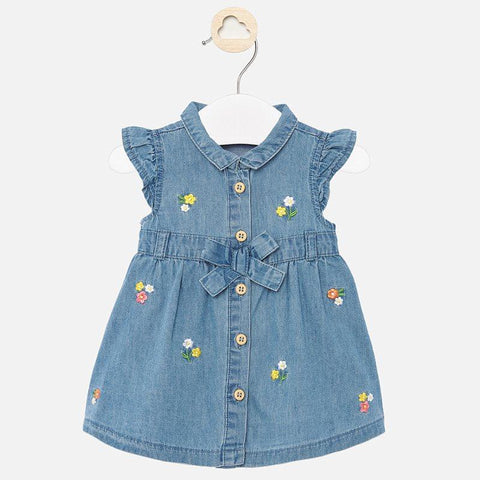 Mayoral Denim Dress-Pumpkin Pie Kids Canada