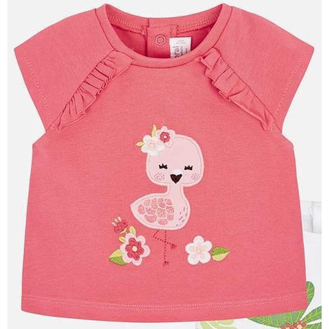 Mayoral Flamingo Top - Coral-1001-053CO 1-2M-Pumpkin Pie Kids Canada