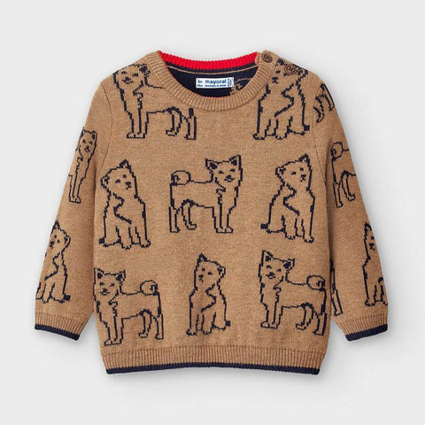 Mayoral Husky Sweater - Almond-Pumpkin Pie Kids Canada