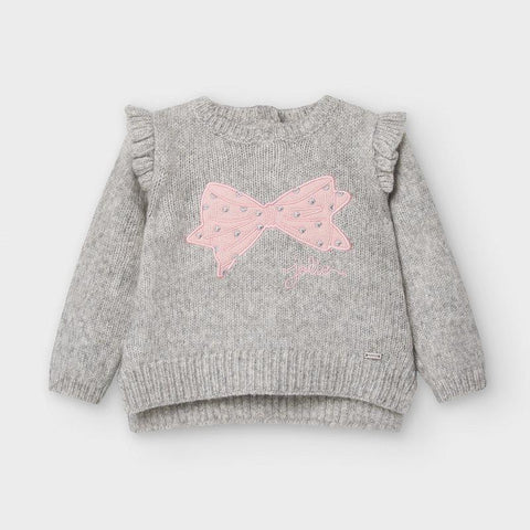 Mayoral Jaquard Sweater - Grey-Pumpkin Pie Kids Canada
