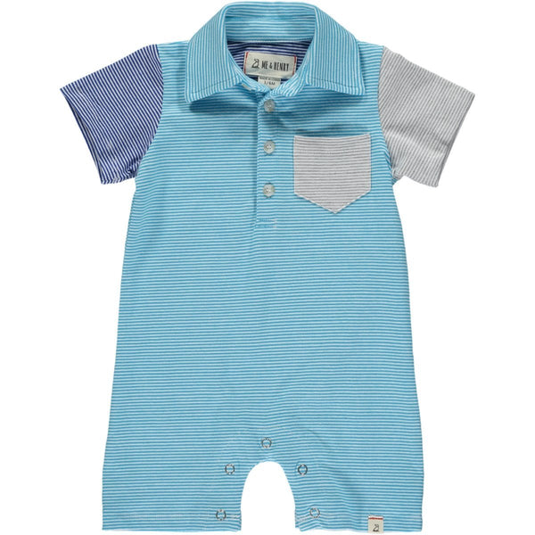 Me & Henry Romper - Turquoise-Pumpkin Pie Kids Canada