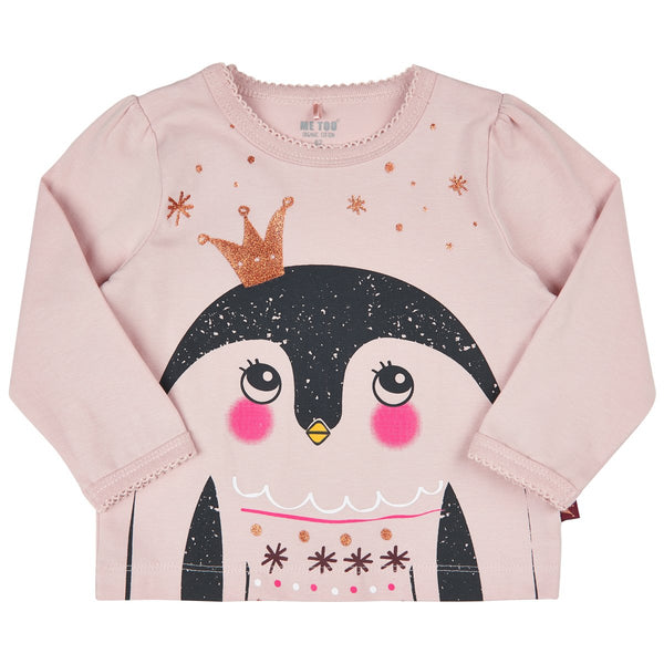 Me Too Organic Top - Pink Penguin-610588-5506 1/56-Pumpkin Pie Kids Canada