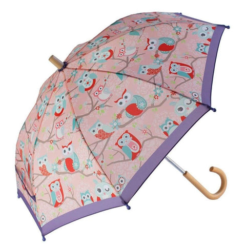 Oaki Umbrella - Perched Owls-660199 OWL-Pumpkin Pie Kids Canada